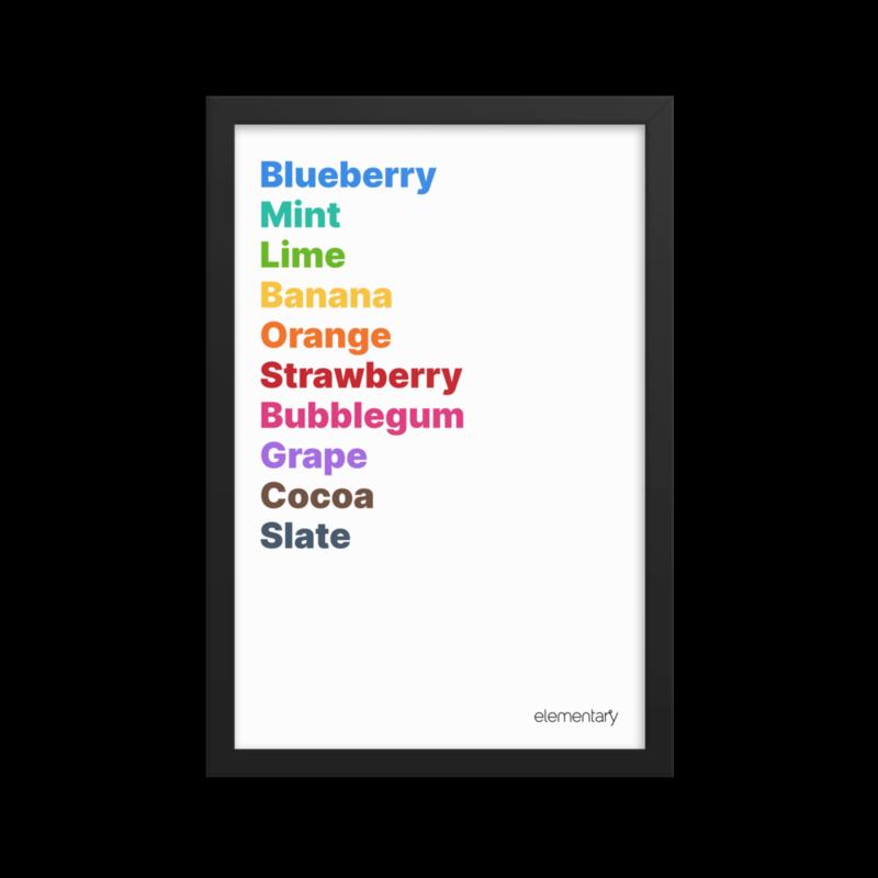 Palette Framed Print – Light