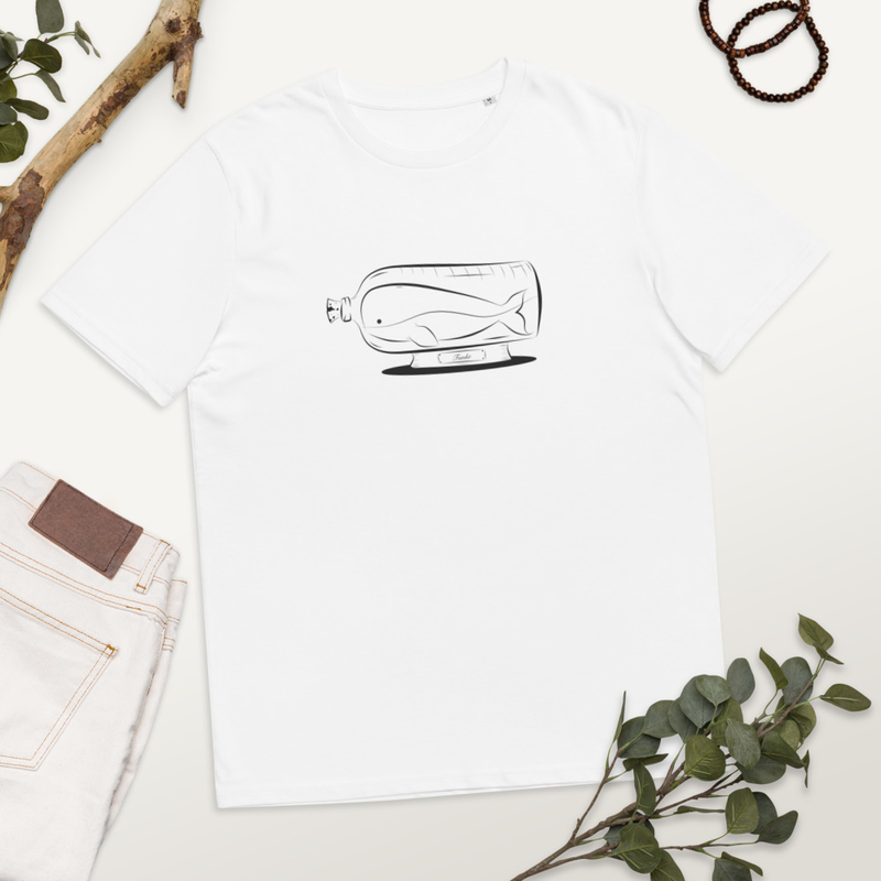 BottledUpWhale - White Organic Cotton T-shirt thumbnail