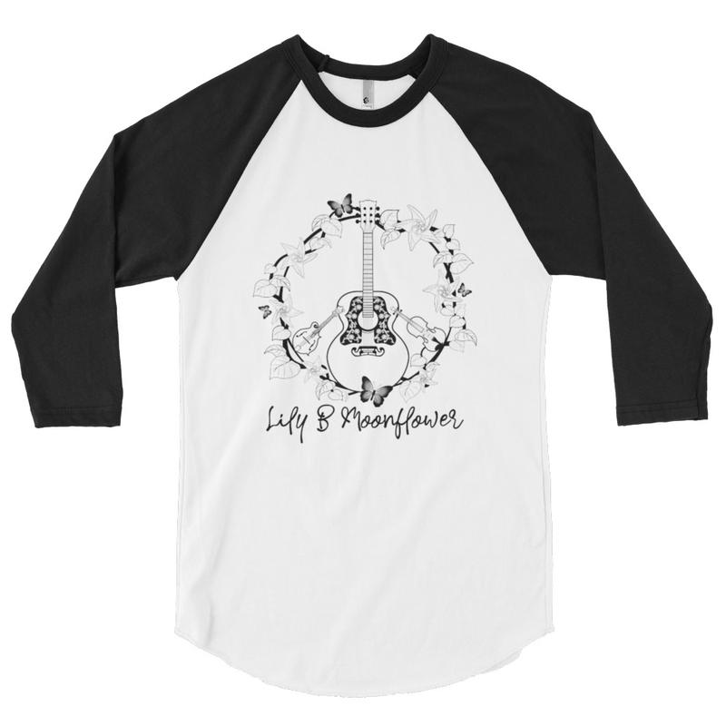3/4 Sleeve T-Shirt w/ Bluegrass Peace Sign