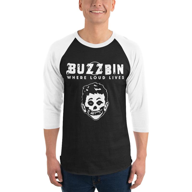 Buzzbin Mad Misfit 3/4 sleeve raglan shirt