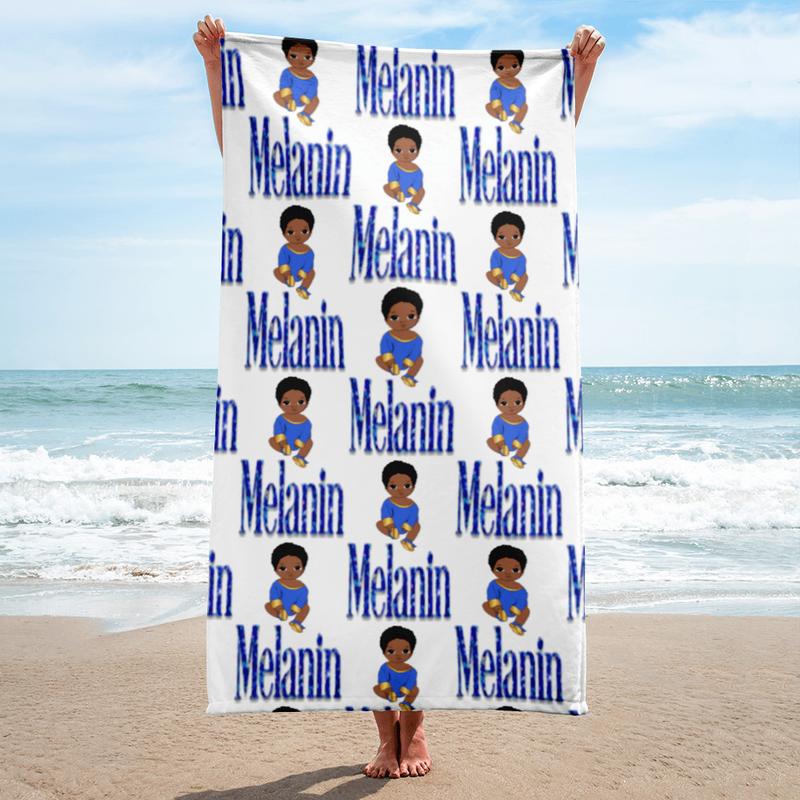 Prince Melanin BLUE Towel