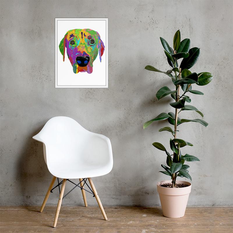 Dog head Framed poster