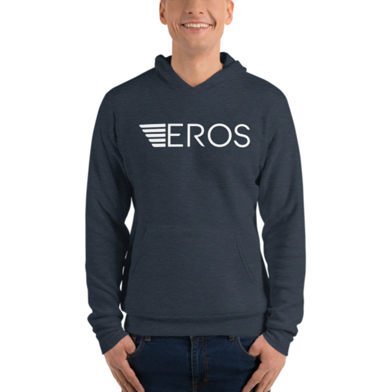 Eros-White Unisex hoodie mockup