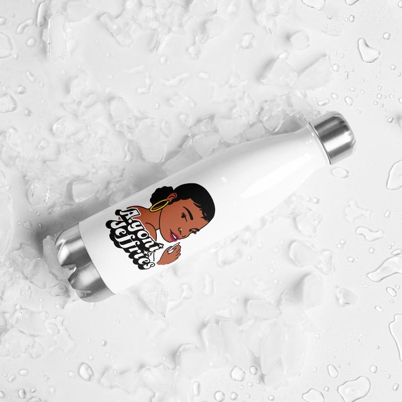 AJ Smoke Flower Stainless Steel Water Bottle