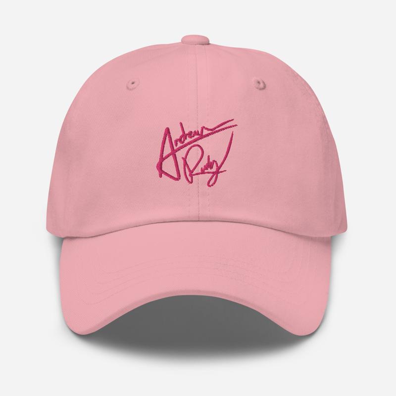 Pink Signature Dad hat