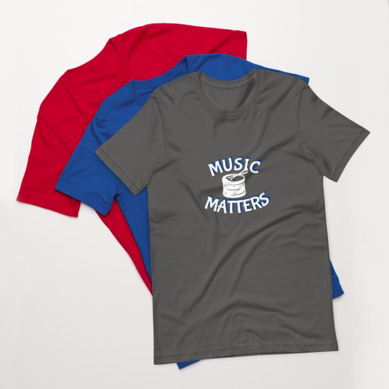 Music Matters (Drums) Unisex T-Shirt