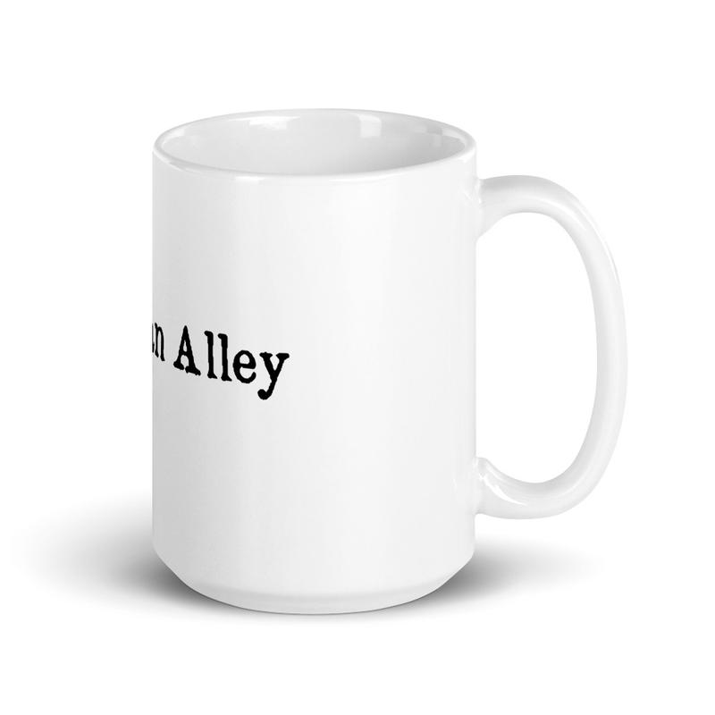 TAMBAYAN ALLEY White glossy mug
