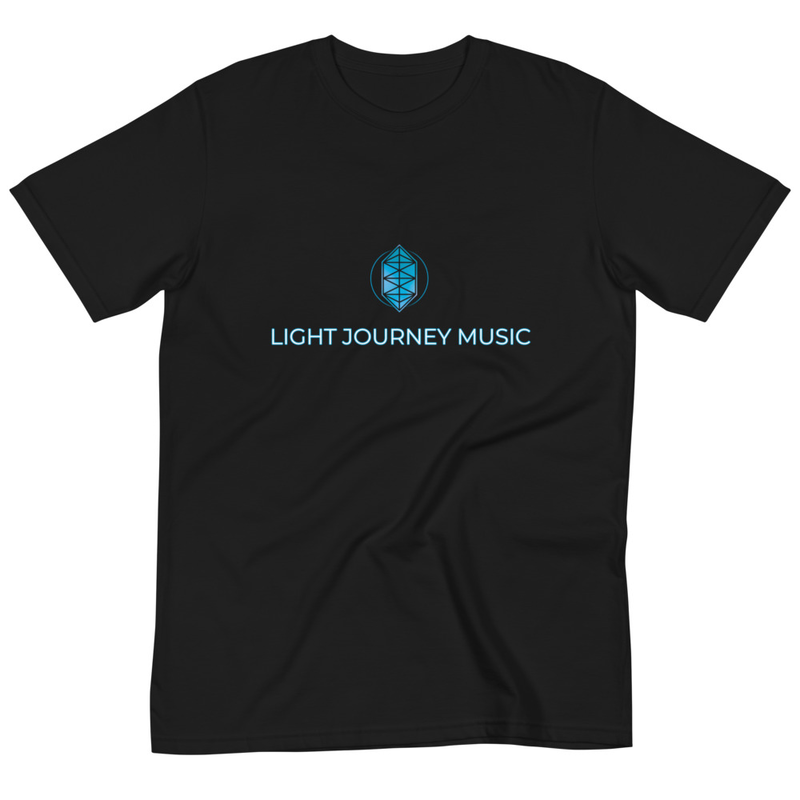 Light Journey Music Organic T (Black)