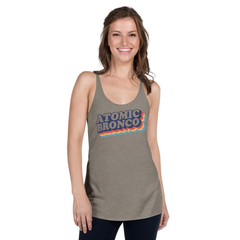 Atomic Bronco Color Logo Racerback Tank