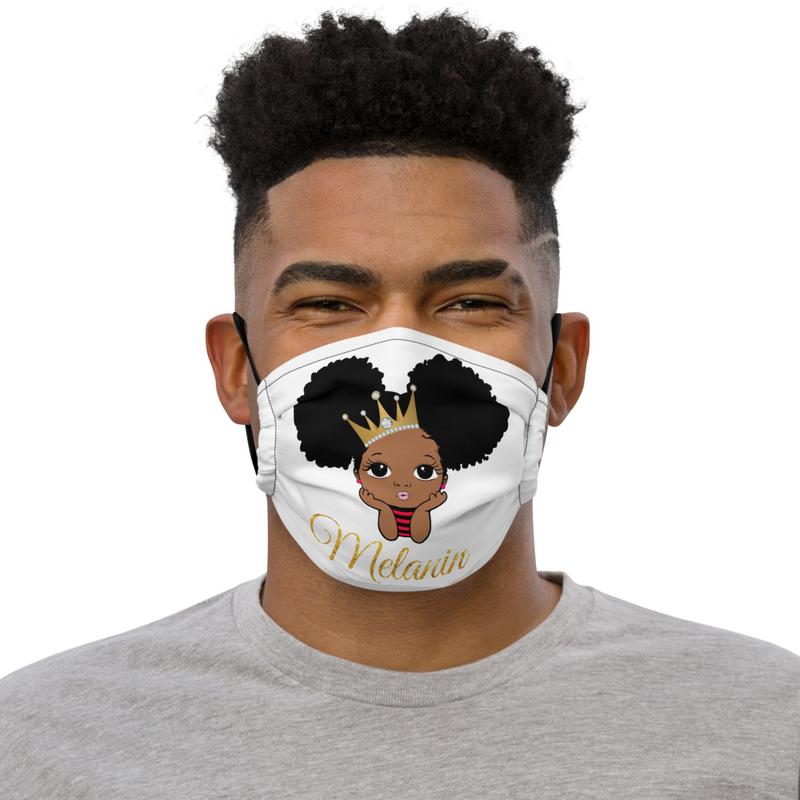 Princess Melanin Premium face mask