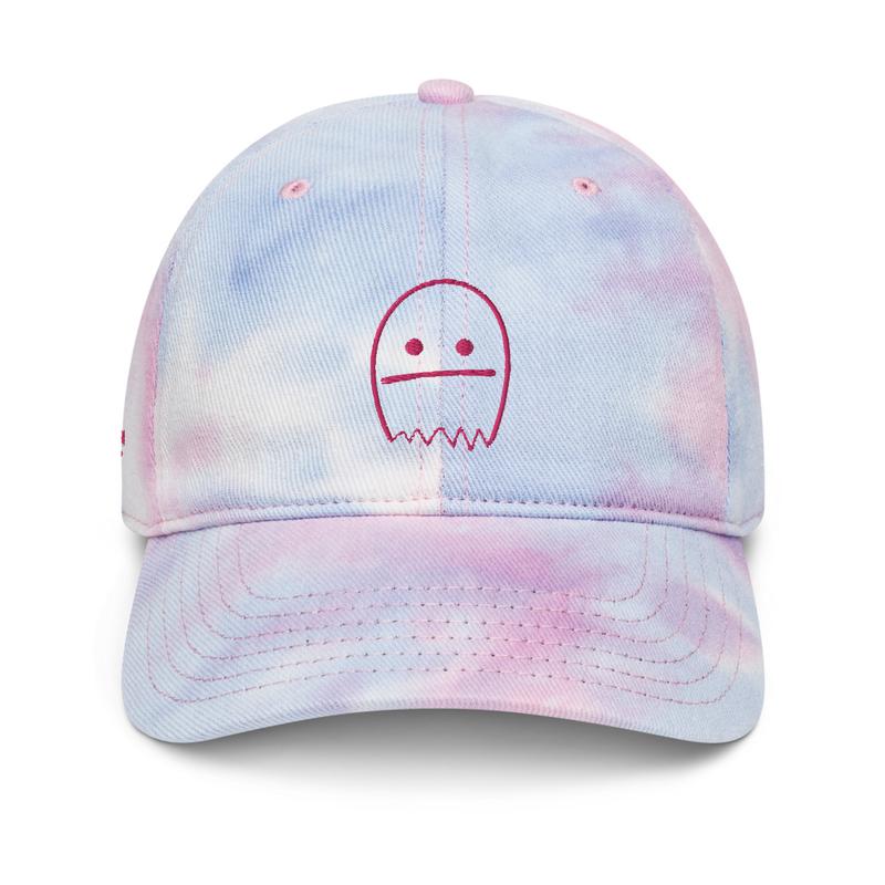 Ghosts Pink Tie Dye Hat
