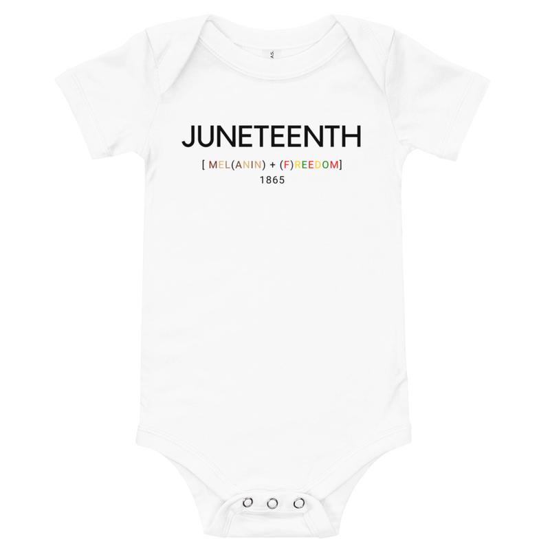 Juneteenth Baby short sleeve one piece