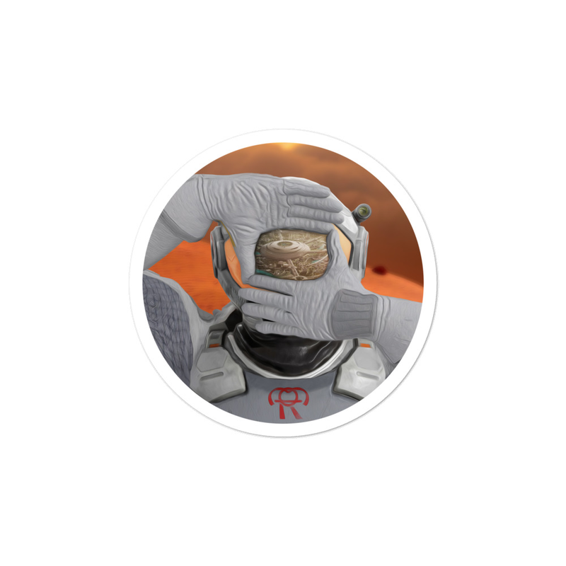 Spaceman Character Sticker