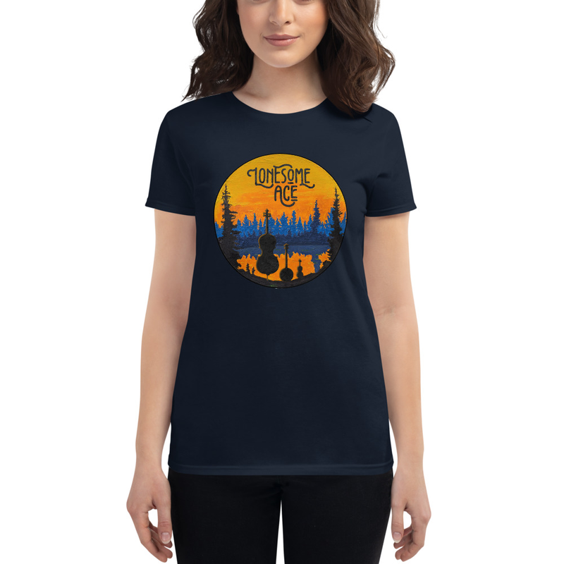 Women's short sleeve t-shirt Lonesome Lake