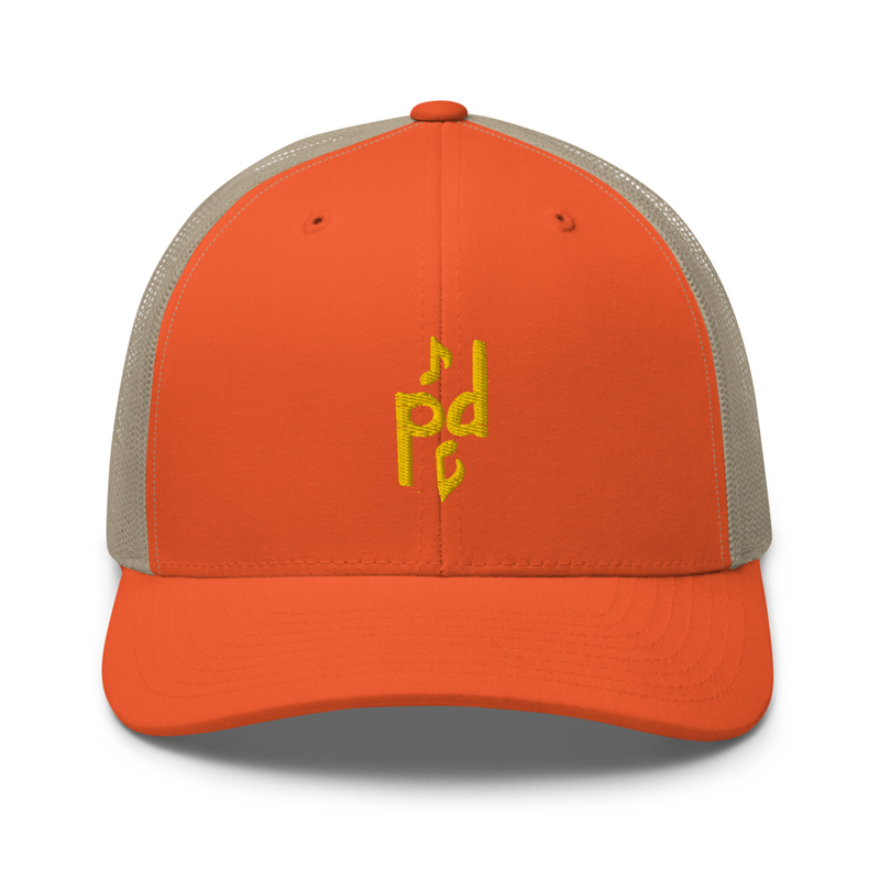 Peter Day Music Logo Retro Trucker Cap