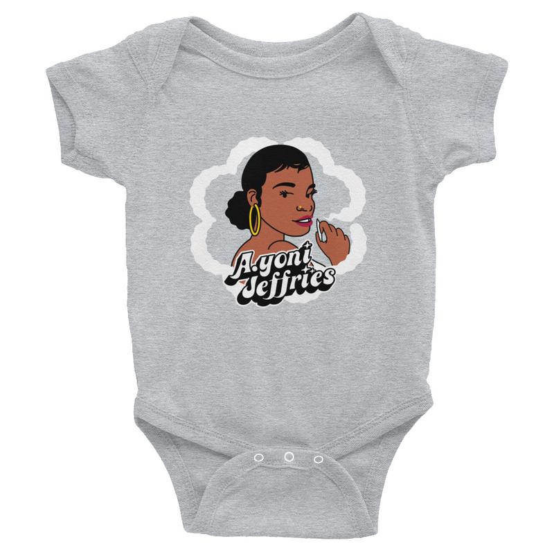 AJ Smoke Flower Infant Bodysuit