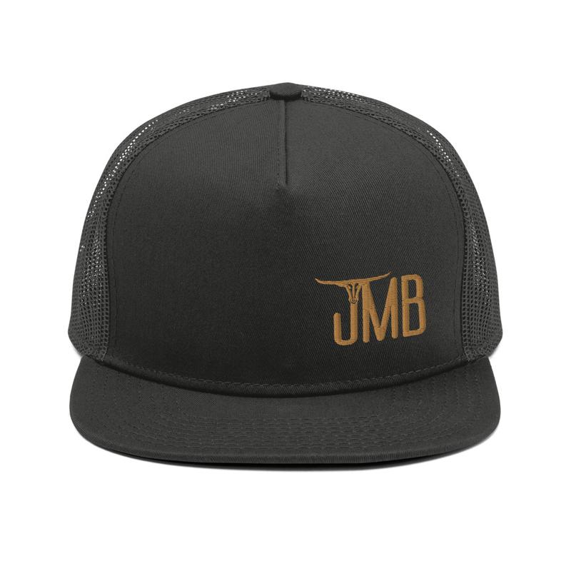 JMB Longhorn Snapback in Black with Brown Logo