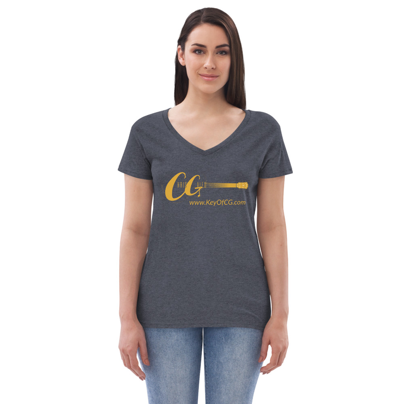 Chris Gales Women's recycled v-neck t-shirt (Choose Color)
