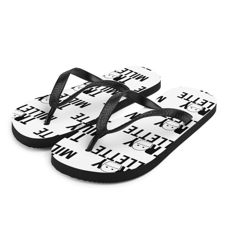 """Ghosts"" Logo Flip-Flops"