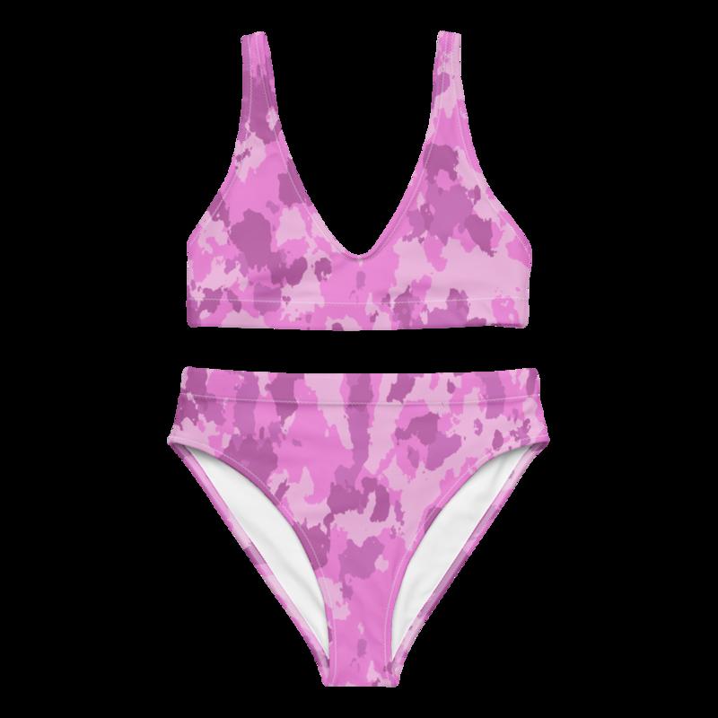CDMG High Waist Bikini Camo Pink