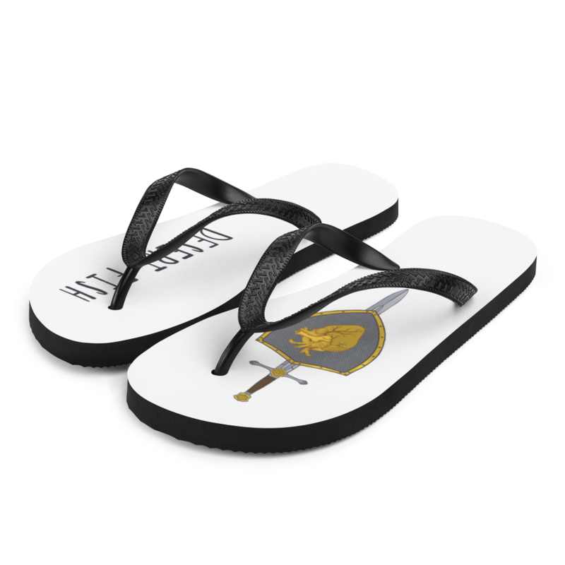 Love Warrior White Flip-Flops