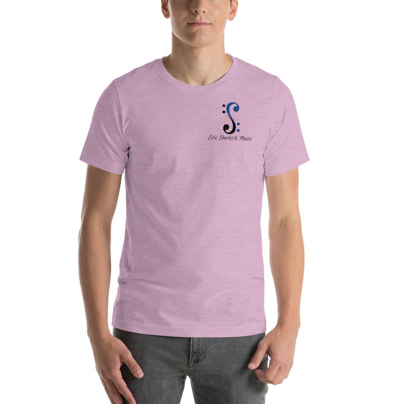 Bass Cleff Logo (Blue / Black) - T-Shirt