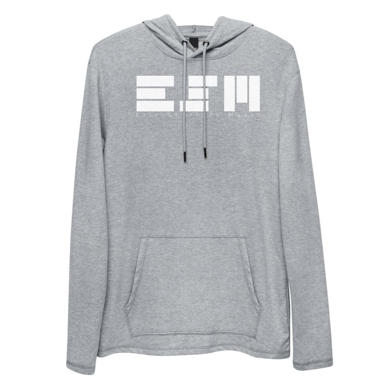 ESM Block Logo (White) - Lightweight Hoodie