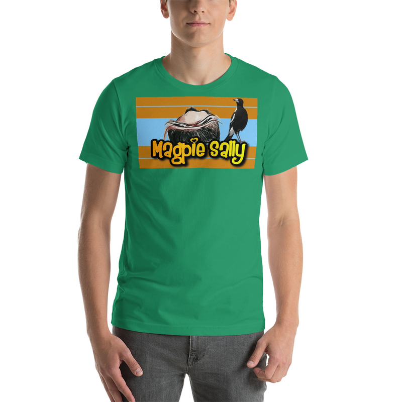 Magpie Sally T-shirt Unisexe à Manches Courtes