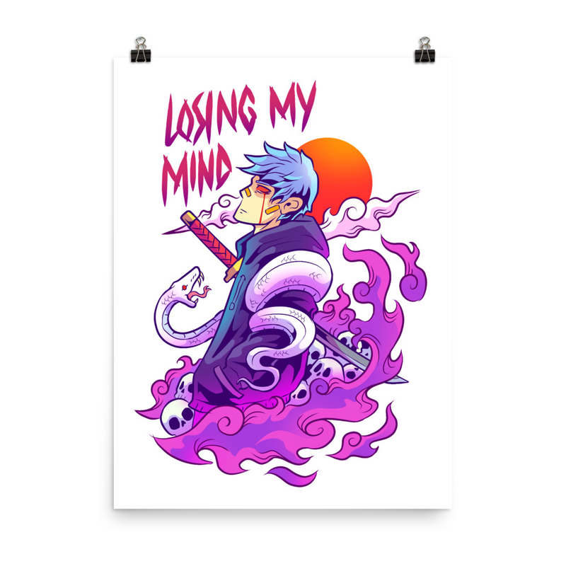 Losing My Mind  White Poster