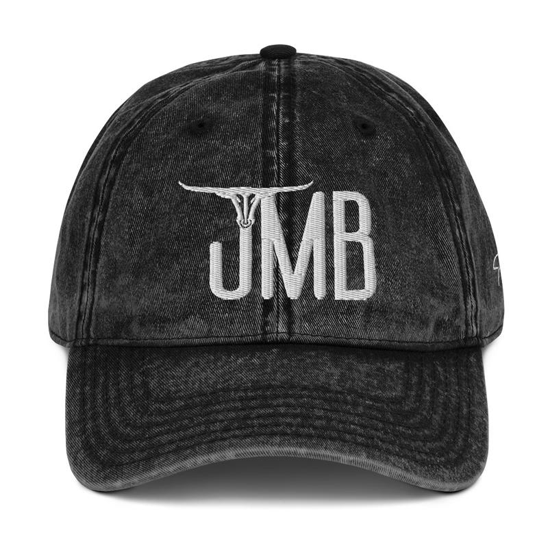 JMB Longhorn Vintage Cotton Twill Cap - Center Logo / Left Side Signature