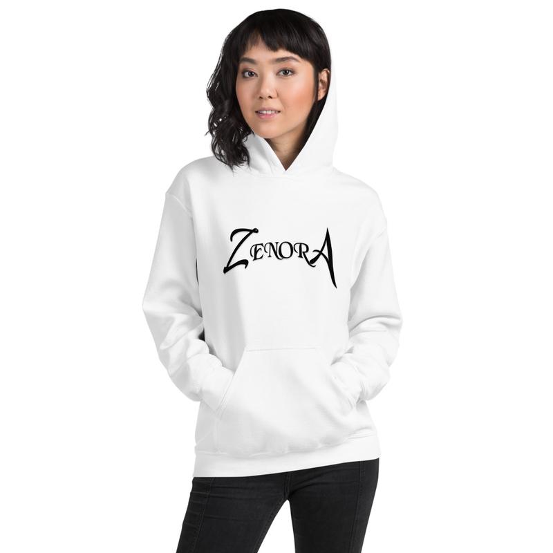 White Zenora Unisex Hoodie