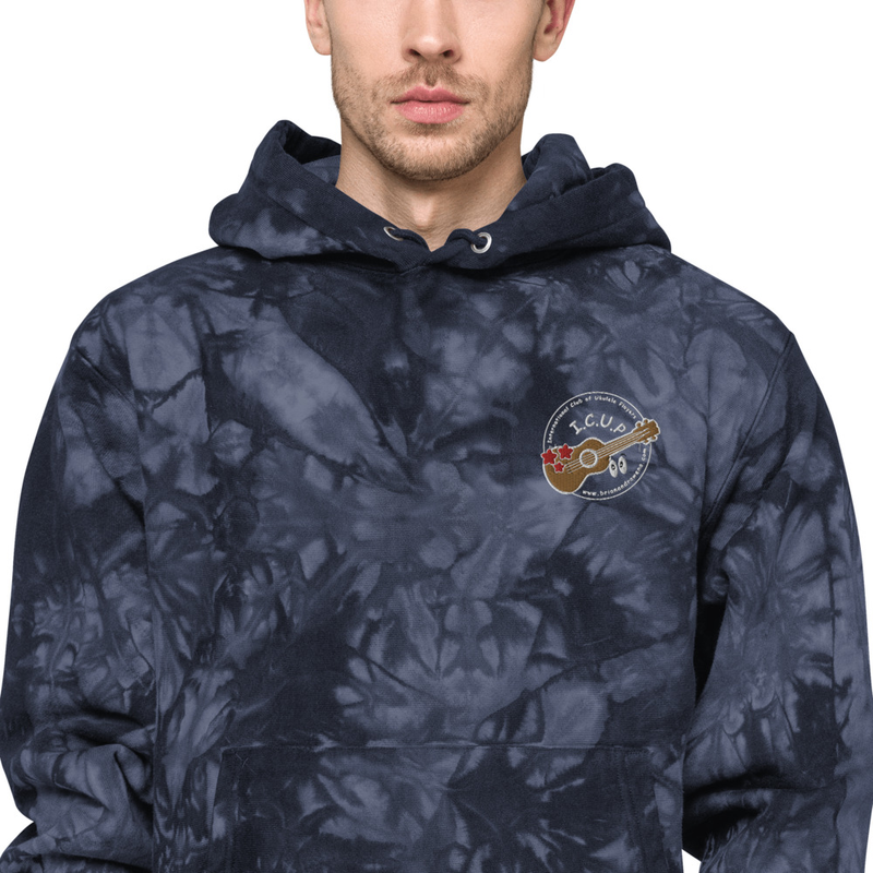 Unisex Champion tie-dye hoodie-Dark tones