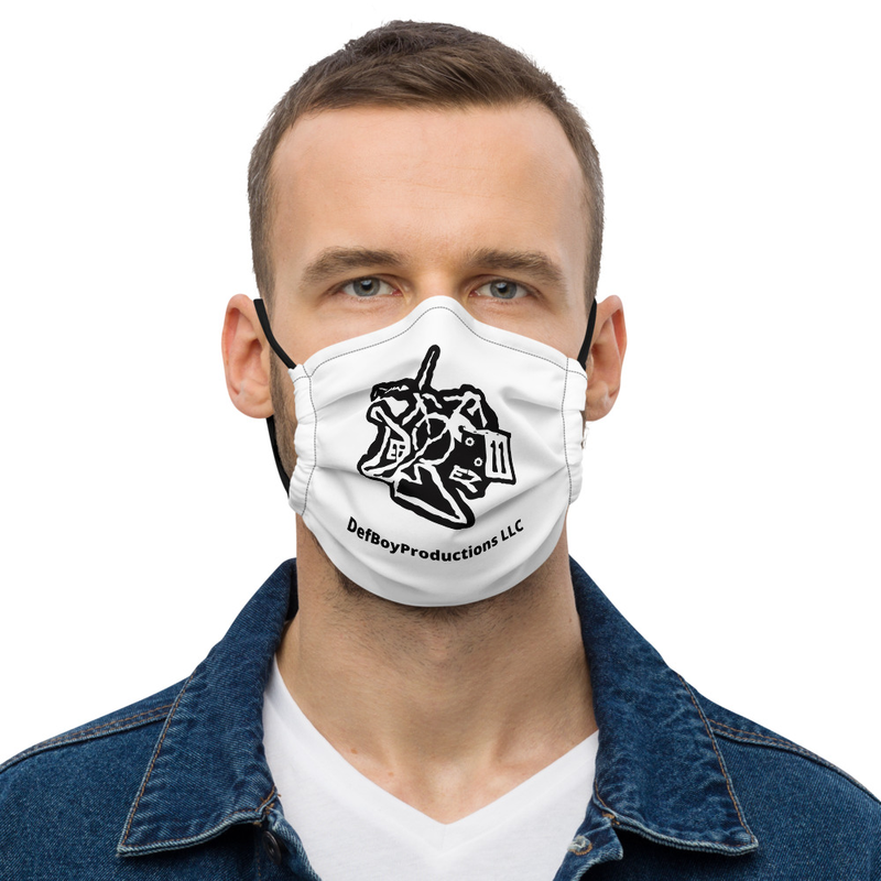 DefBoyProductions LLC Black And White Premium face mask