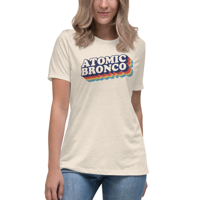 Atomic Bronco Color Logo - Women's Relaxed T-Shirt