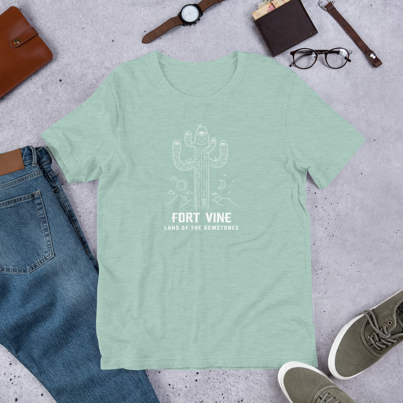 Psychedelic Cactus T-Shirt (White Ink)