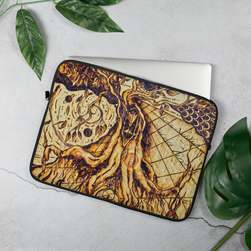Writing with Fire Laptop Sleeve