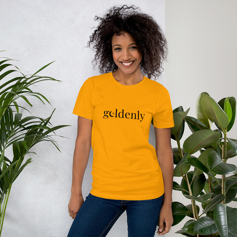 Short-Sleeve Unisex T-Shirt: Goldenly
