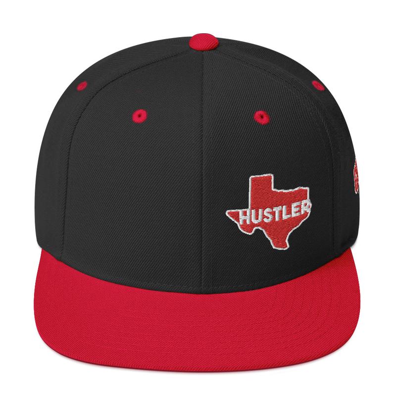 Texas Hustler Snapback Hat (GRE Logo on Left Side)