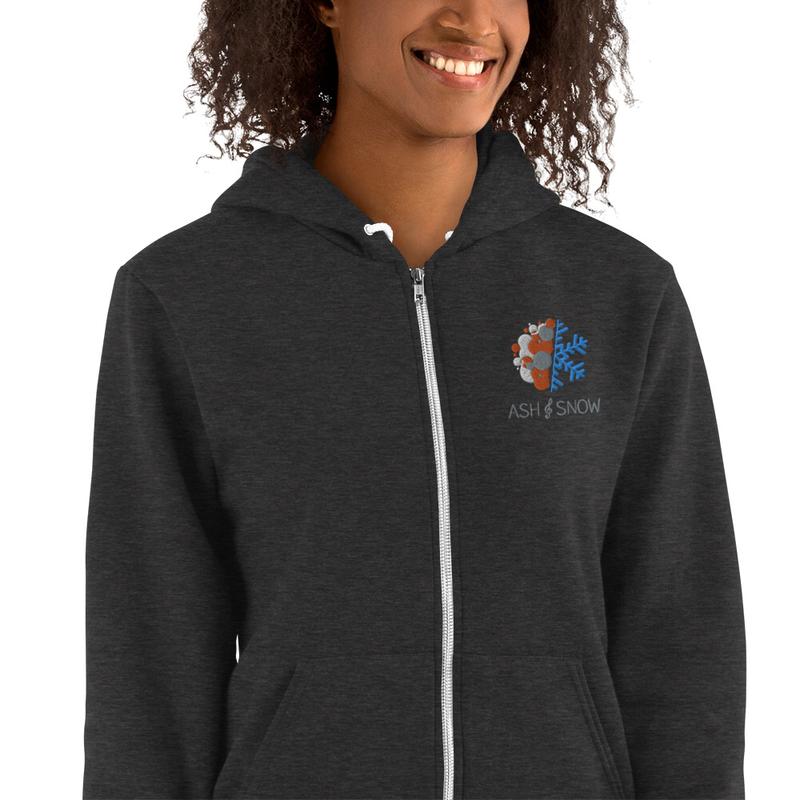 Unisex Hoodie Zip-up Sweater
