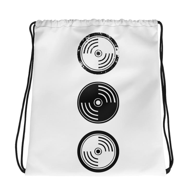 Drawstring bag -White Vinyl