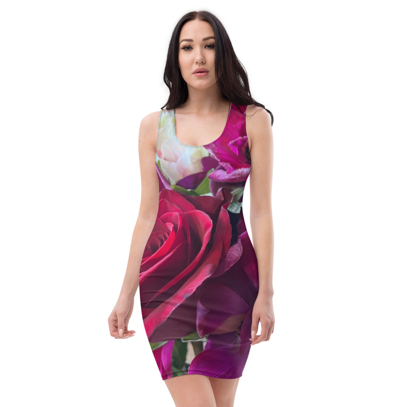 Cool Rose and Poppy Dress
