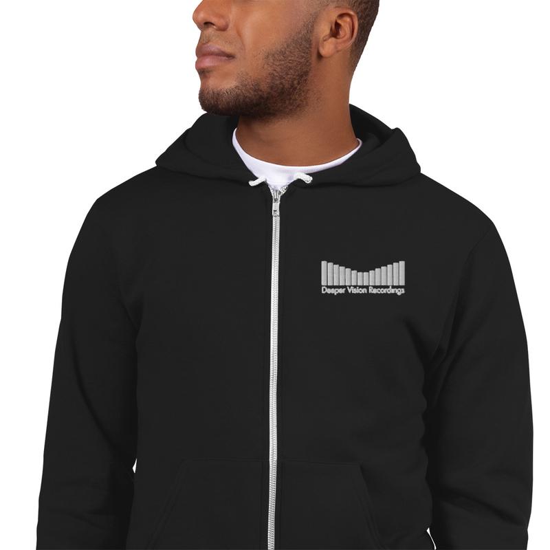 Deeper Vision - White Logo Hoodie sweater