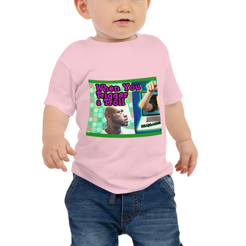 Baby Jersey Short Sleeve Tee - Triggered Troll