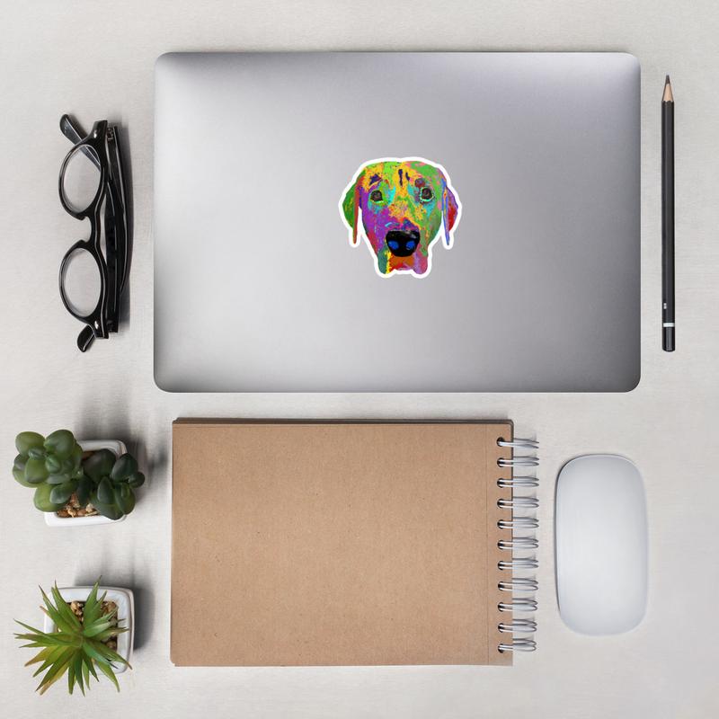 Dog head Bubble-free stickers