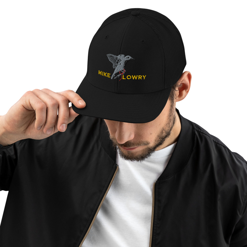 Snapback Trucker Cap | Bird with name - Black/White, Fully Black, Cardinal