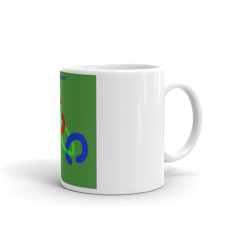 White glossy mug - Three of a Kind