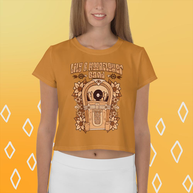 Limited Edition Autumn Jukebox Cropped Tee