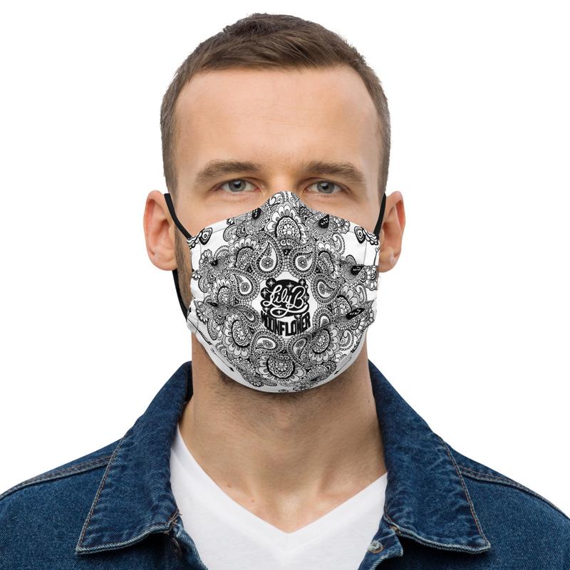 Paisley Moonflower Mask