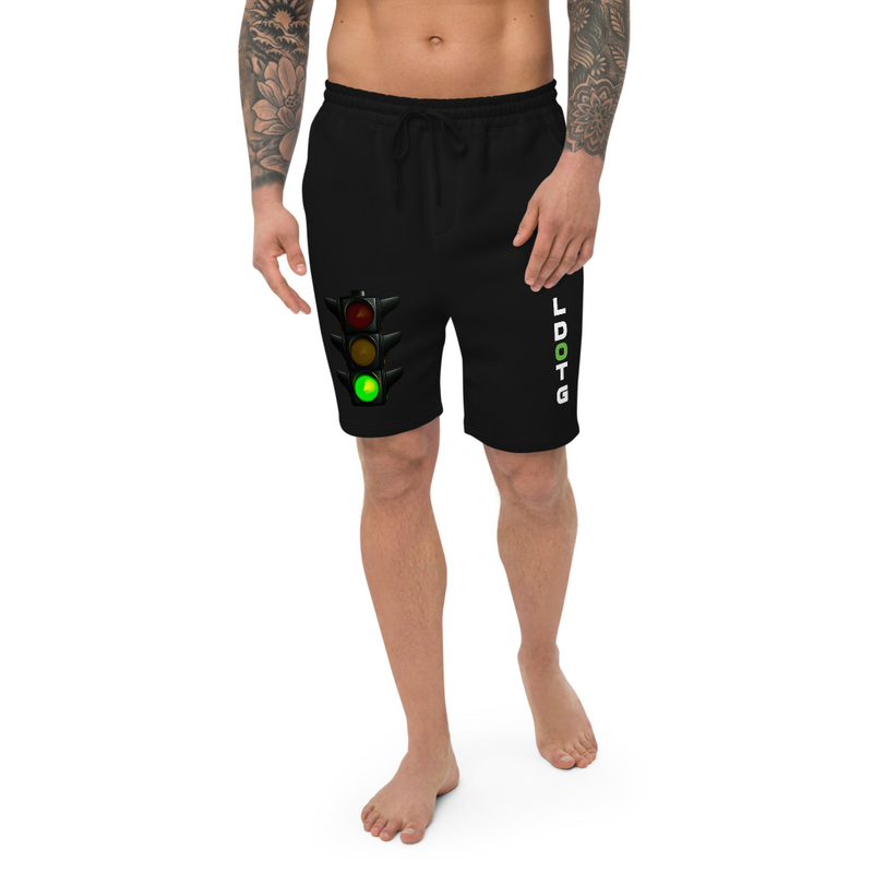 L Dot G Dark Men's fleece shorts
