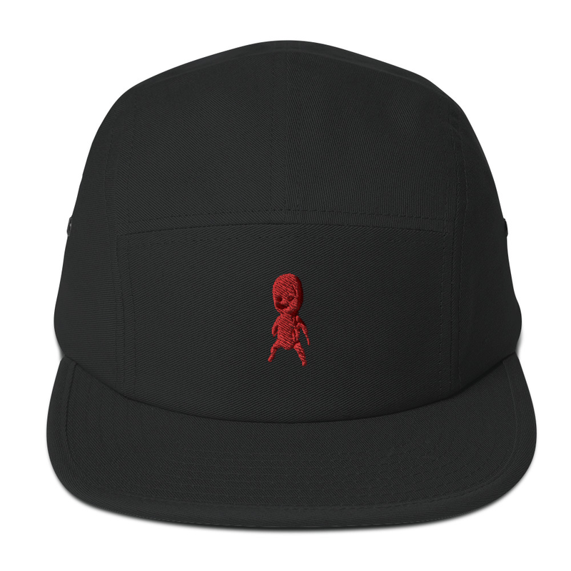 5 Panel Cap with embroidered doll
